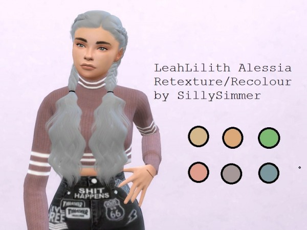 The Sims Resource: LeahLilith`s Alessia Recoloured by SillySimmerAf for Sims 4