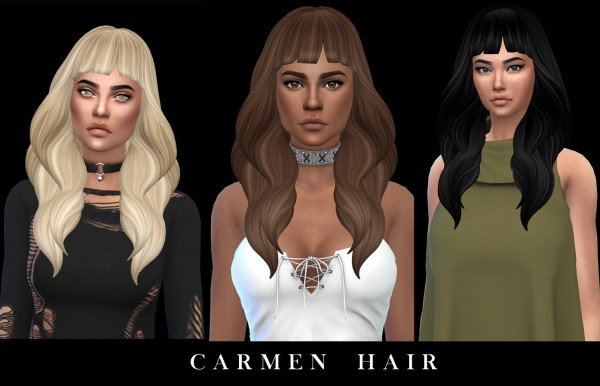Leo 4 Sims: Caren hair recolored for Sims 4