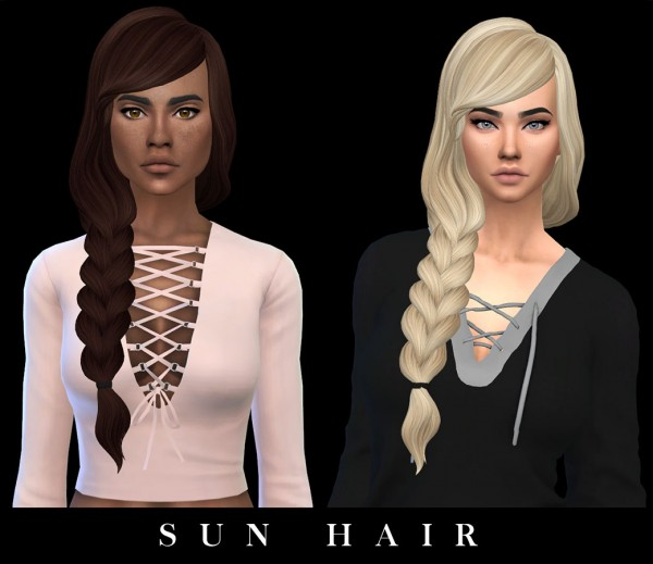 Leo 4 Sims: Sun hair retextured for Sims 4