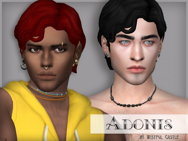 The Sims Resource: Adonis hair retextured by WistfulCastle for Sims 4