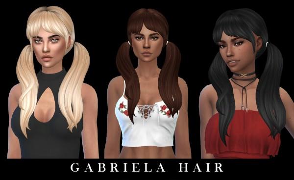 Leo 4 Sims: Gabriela hair recolored for Sims 4