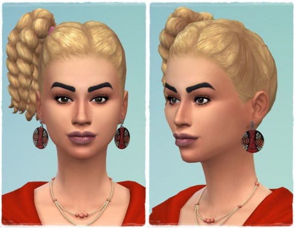 Birksches sims blog: Left sideTwist hair for Sims 4