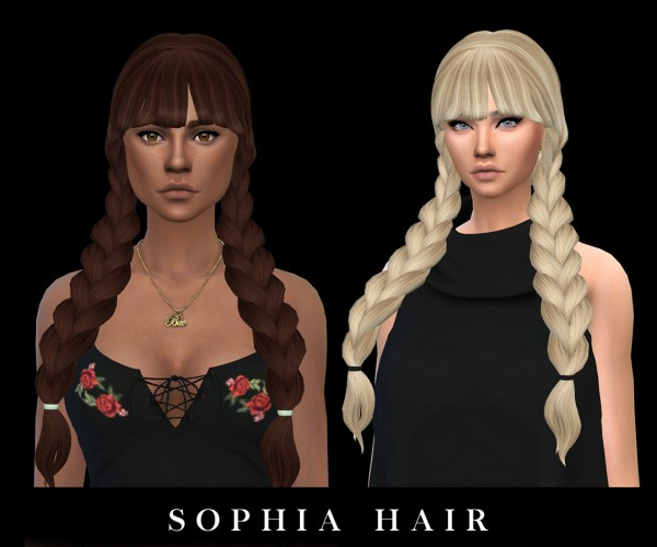 Leo 4 Sims: Sophia Hair recolored for Sims 4