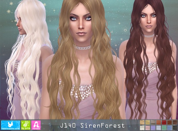 NewSea: J140 Siren Forest hair for Sims 4