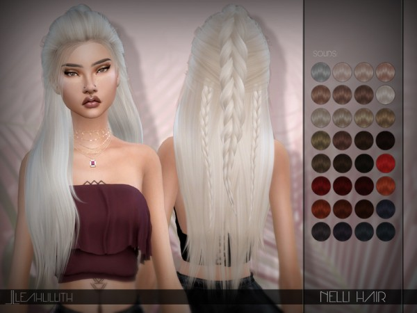 The Sims Resource: Nelli Hair by LeahLillith for Sims 4