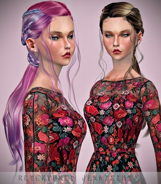 Jenni Sims: Newsea`s Dragon Stone Hair retextured for Sims 4