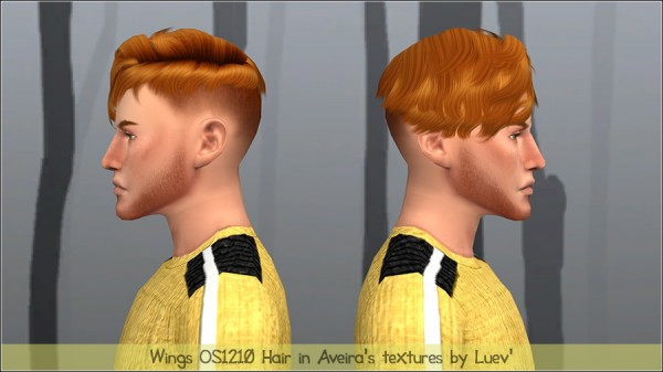 Mertiuza: Wings Os1210 hair retextured for Sims 4