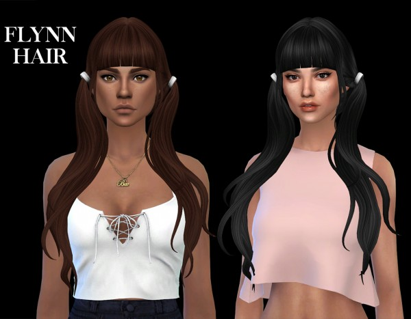 Leo 4 Sims: Flynn hair recolored for Sims 4