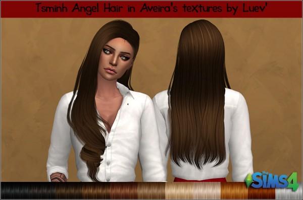 Mertiuza: Tsminh`s Angel hair retextured for Sims 4