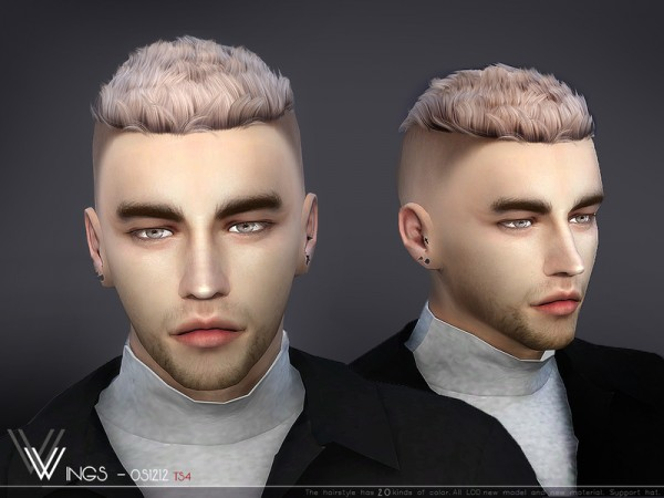 The Sims Resource: WINGS OS1212 hair for Sims 4