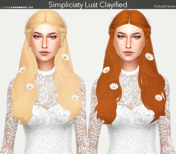 Kot Cat: Simpliciaty`s Lust Hair Clayified for Sims 4