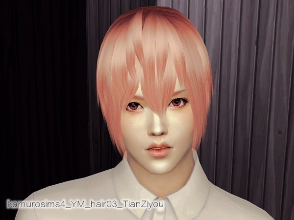 The Sims Resource: Hair 03 by abc6632298 for Sims 4