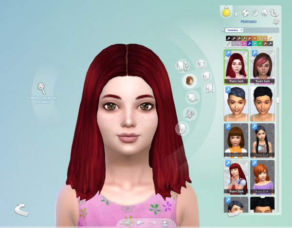 Mystufforigin: Thelma Hair retextured for girls for Sims 4
