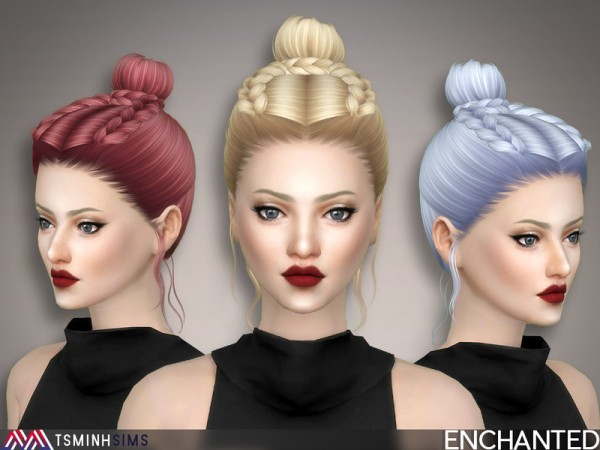 The Sims Resource: Enchanted Hair 50 by TsminhSims for Sims 4