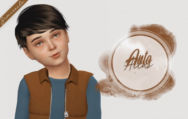 Simiracle: Anto`s Atlas hair retextured   Kids Version for Sims 4