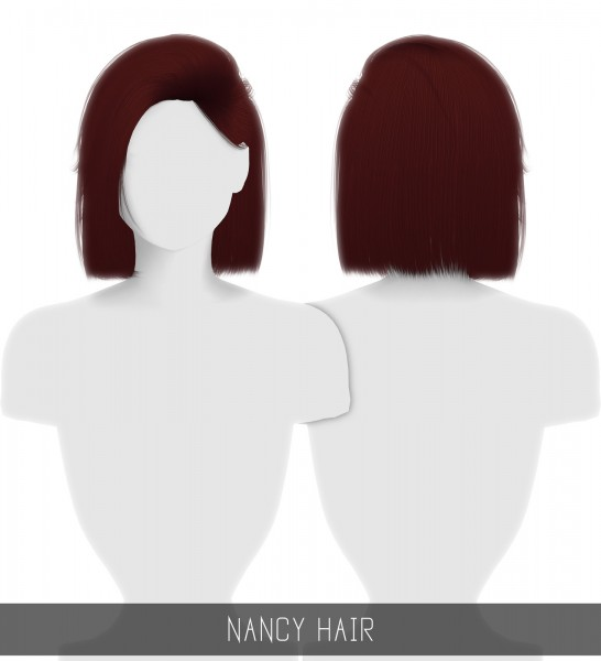 Simpliciaty: Nancy hair for Sims 4