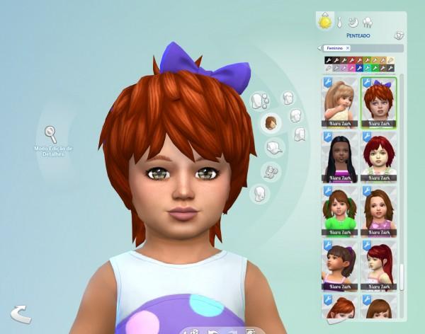 Mystufforigin: Shaggy Bow Hair for Sims 4