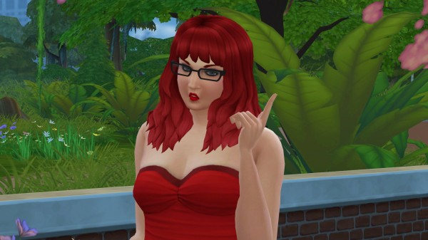 Mod The Sims: Dipped Hair recolored by LostNlonelyGrl86 for Sims 4