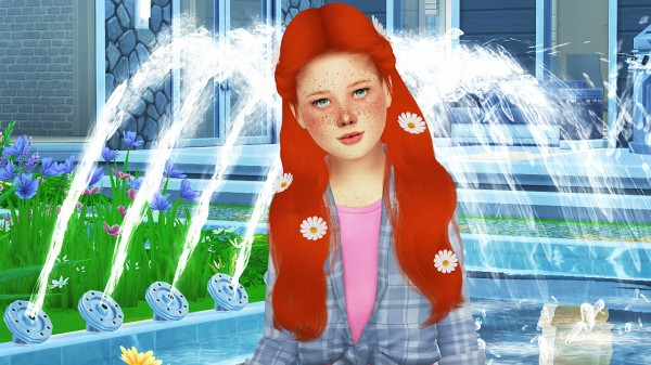 Coupure Electrique: Simpliciaty`s Lust hair child version for Sims 4