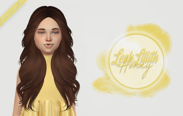 Simiracle: LeahLillith`s Honey hair retextured   Kids Version for Sims 4