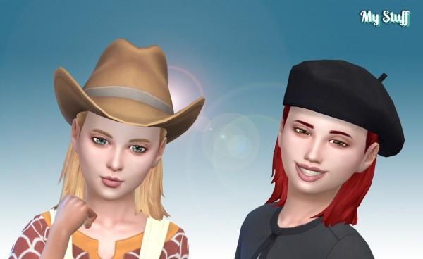 Mystufforigin: Modest Bun for Girls for Sims 4