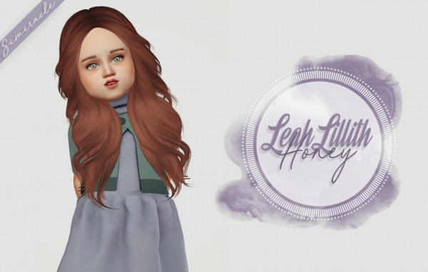 Simiracle: LeahLilliths Honey hair retextured   Toddler Version for Sims 4