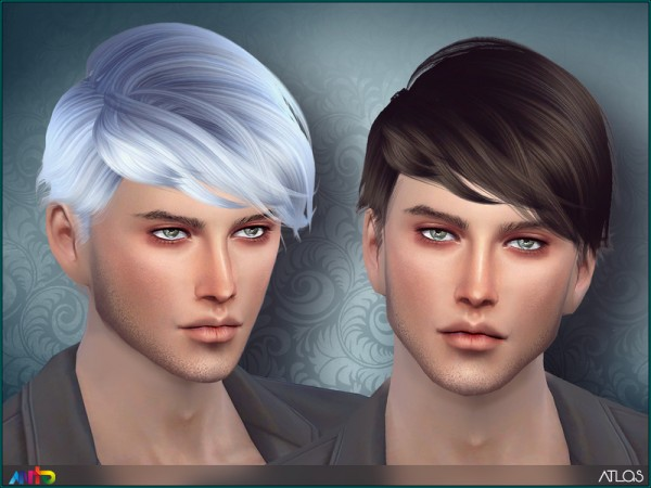 The Sims Resource: Atlas hair retextured by Anto for Sims 4