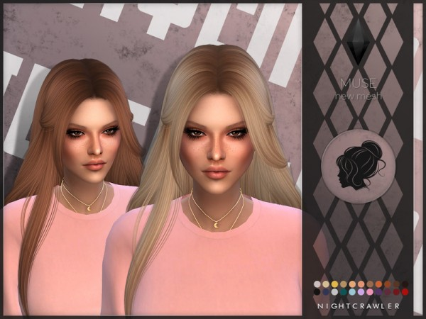 The Sims Resource: Muse hair byNightcrawler for Sims 4