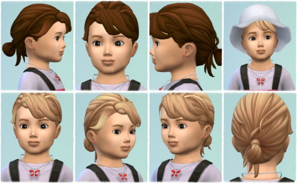 Birksches sims blog: Baby Knot hair retextured for Sims 4