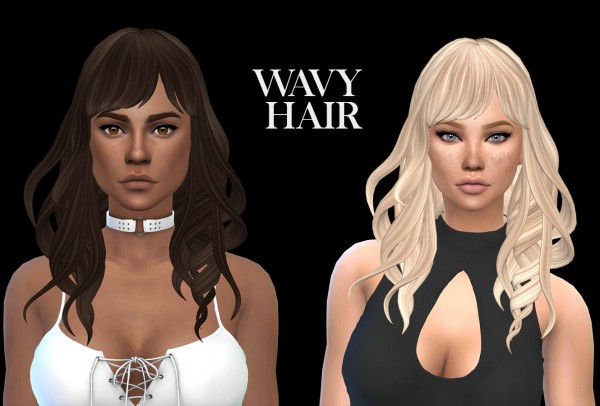 Leo 4 Sims: Wavy hair retextured for Sims 4