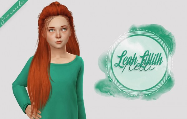 Simiracle: LeahLillith`s Nelli hair retextured   Kids Version for Sims 4