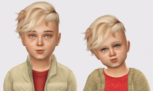 The Sims Resource: WINGS OS1210 hair retextured for boys for Sims 4