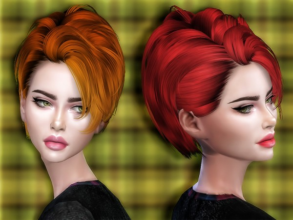 The Sims Resource: Skysims 121 hair retextured by Sharareh for Sims 4