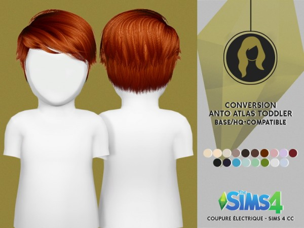 Coupure Electrique: Anto`s Atlas hair retextured for toddlers for Sims 4