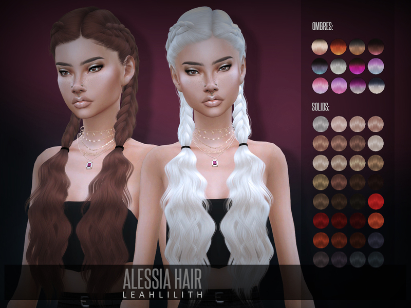 Sims 4 Hairs The Sims Resource Alessia Hair By Leahlillith