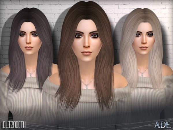 The Sims Resource: Elizabeth by Ade Darma for Sims 4