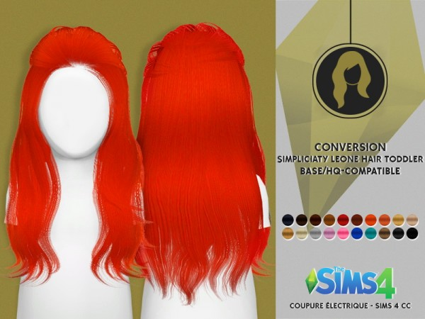 Coupure Electrique: Simpliciaty`s Leone hair retextured for toddlers for Sims 4
