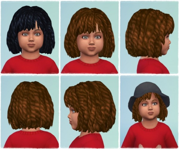 Birksches sims blog: Dreads for Toddler for Sims 4