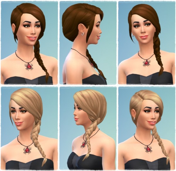 Birksches sims blog: Ivana's SideTails for Sims 4