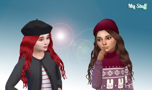Mystufforigin: Miriam Hair for Girls for Sims 4