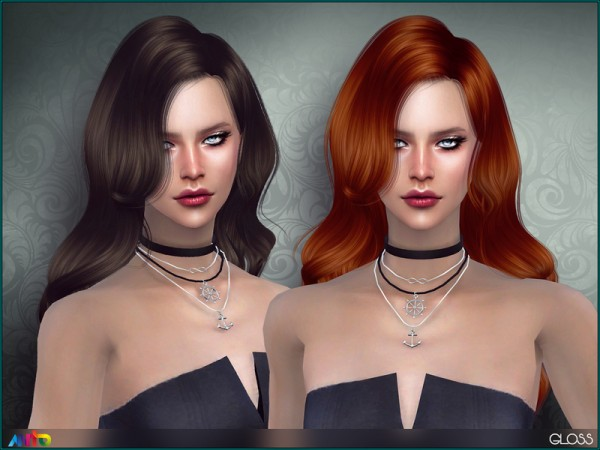 The Sims Resource: Gloss Hair by Anto for Sims 4