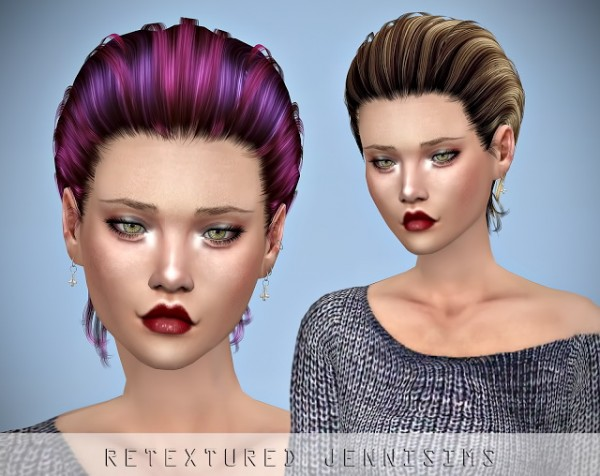 Jenni Sims: Newsea`s Joshua Hair retextured for Sims 4