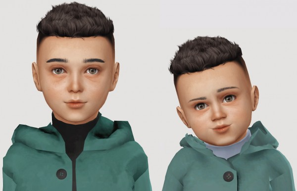 Simiracle: Wings os1212 hair retextured for Sims 4