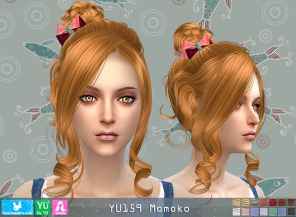 NewSea: YU159 Momoko hair for Sims 4
