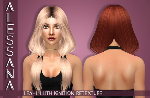 Alessana Sims: LeahLillith`s Ignition Hhair retextured for Sims 4