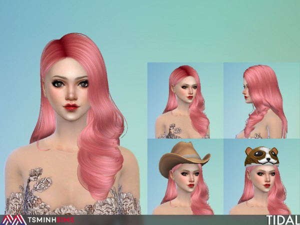 The Sims Resource: Tidal Hair 53 by TsminhSims for Sims 4
