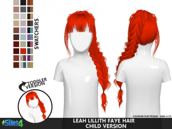 Coupure Electrique: Leahlillith`s Faye hair retextured for Sims 4