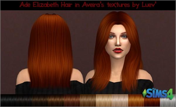 Mertiuza: Ade Darma`s Elizabeth hair retexttred for Sims 4