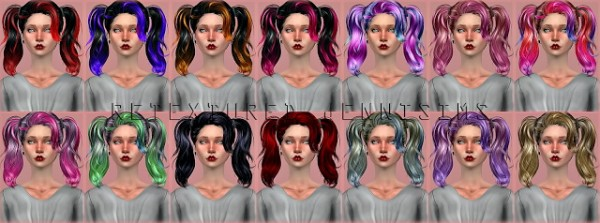Jenni Sims: Newsea`s Guilty Romance Hair retextured for Sims 4