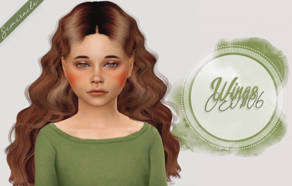 Simiracle: Wings OE0106 hair retextured  Kids Version for Sims 4